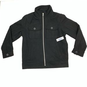 Boys Old Navy Coat Wool Blend Zipper Front New 8